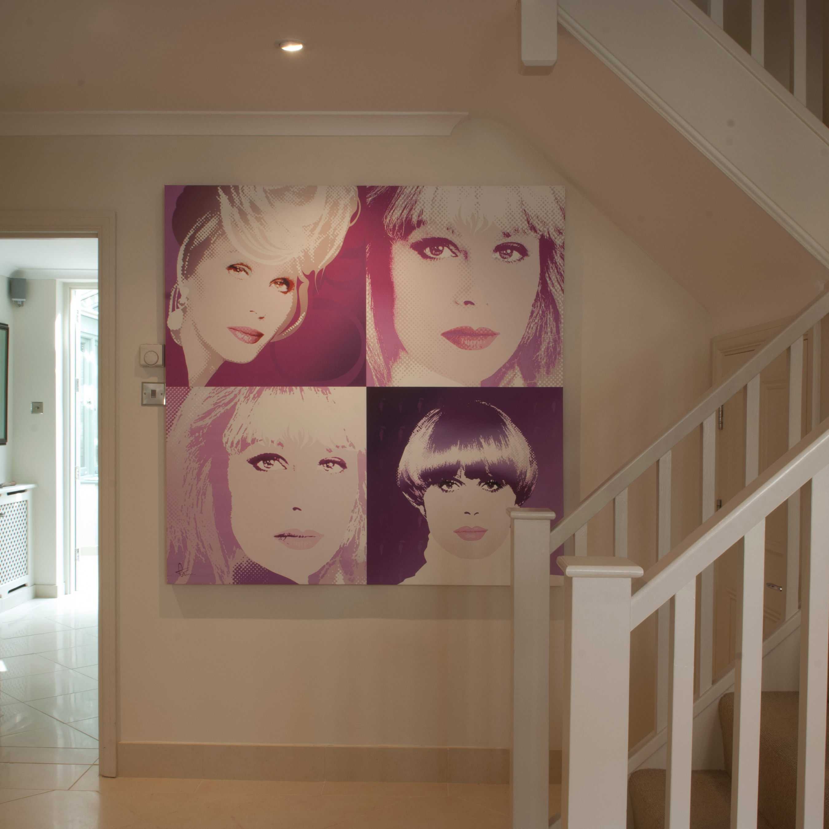 Portrait of Joanna Lumley, and some of her favorite characters