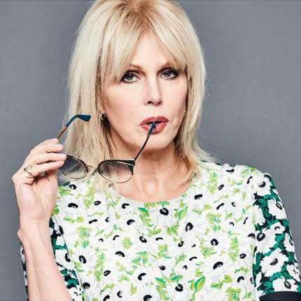Joanna Lumley, actress.